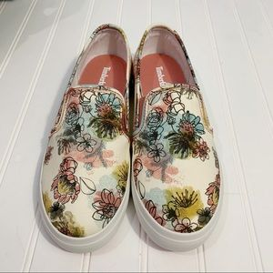 Slip-On Beige Floral Timberland Sneakers